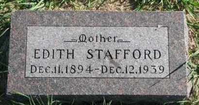 STAFFORD, EDITH - Clay County, South Dakota | EDITH STAFFORD - South Dakota Gravestone Photos