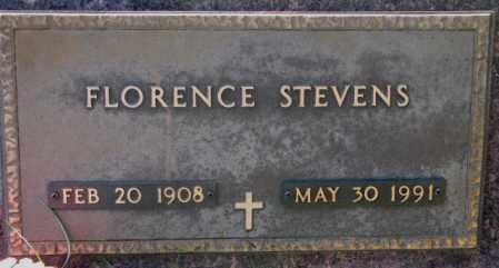 STEVENS, FLORENCE - Clay County, South Dakota   FLORENCE STEVENS - South Dakota Gravestone Photos