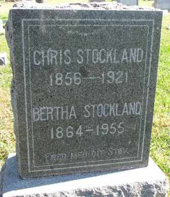 STOCKLAND, BERTHA - Clay County, South Dakota | BERTHA STOCKLAND - South Dakota Gravestone Photos