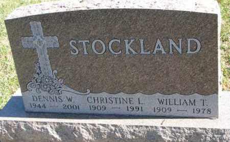 STOCKLAND, DENNIS W. - Clay County, South Dakota   DENNIS W. STOCKLAND - South Dakota Gravestone Photos