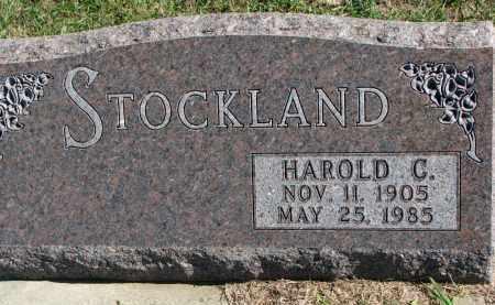 STOCKLAND, HAROLD C. - Clay County, South Dakota | HAROLD C. STOCKLAND - South Dakota Gravestone Photos