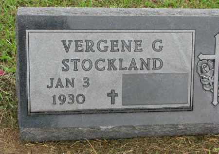 STOCKLAND, VERGENE G. - Clay County, South Dakota | VERGENE G. STOCKLAND - South Dakota Gravestone Photos