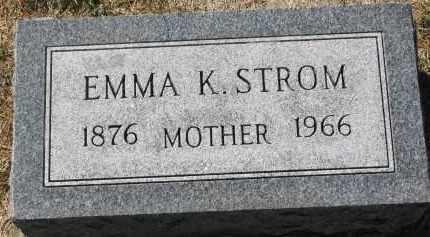 STROM, EMMA K. - Clay County, South Dakota | EMMA K. STROM - South Dakota Gravestone Photos