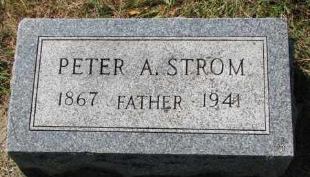 STROM, PETER A. - Clay County, South Dakota   PETER A. STROM - South Dakota Gravestone Photos