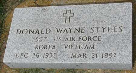 STYLES, DONALD WAYNE - Clay County, South Dakota | DONALD WAYNE STYLES - South Dakota Gravestone Photos
