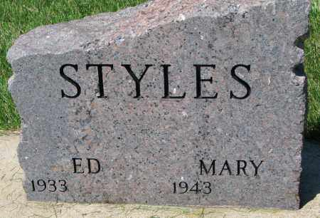 STYLES, MARY - Clay County, South Dakota | MARY STYLES - South Dakota Gravestone Photos