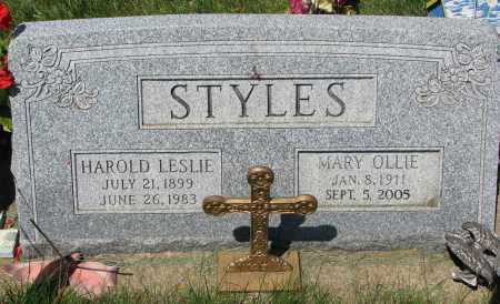 STYLES, HAROLD LESLIE - Clay County, South Dakota | HAROLD LESLIE STYLES - South Dakota Gravestone Photos