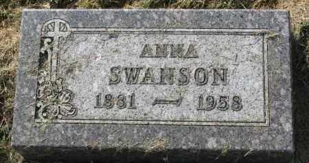 SWANSON, ANNA - Clay County, South Dakota | ANNA SWANSON - South Dakota Gravestone Photos