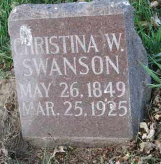 SWANSON, CHRISTINA W. - Clay County, South Dakota | CHRISTINA W. SWANSON - South Dakota Gravestone Photos