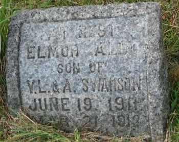SWANSON, ELMOR ALDO - Clay County, South Dakota | ELMOR ALDO SWANSON - South Dakota Gravestone Photos