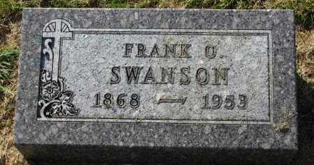 SWANSON, FRANK O. - Clay County, South Dakota | FRANK O. SWANSON - South Dakota Gravestone Photos