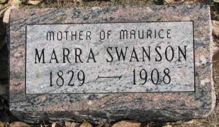 SWANSON, MARRA - Clay County, South Dakota   MARRA SWANSON - South Dakota Gravestone Photos