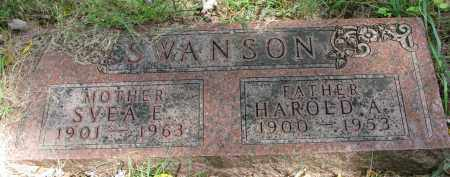 SWANSON, HAROLD A. - Clay County, South Dakota | HAROLD A. SWANSON - South Dakota Gravestone Photos