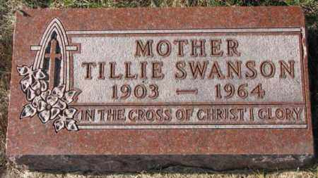 SWANSON, TILLIE - Clay County, South Dakota | TILLIE SWANSON - South Dakota Gravestone Photos