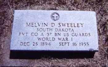 SWEELEY, MELVIN D. - Clay County, South Dakota | MELVIN D. SWEELEY - South Dakota Gravestone Photos