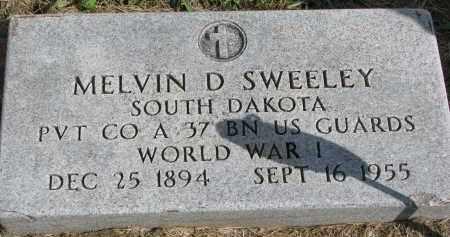 SWEELEY, MELVIN D. - Clay County, South Dakota   MELVIN D. SWEELEY - South Dakota Gravestone Photos