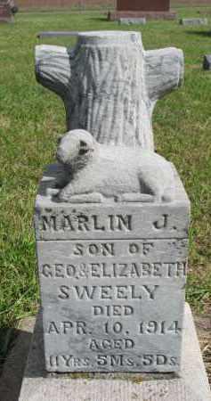 SWEELY, MARLIN J. - Clay County, South Dakota   MARLIN J. SWEELY - South Dakota Gravestone Photos