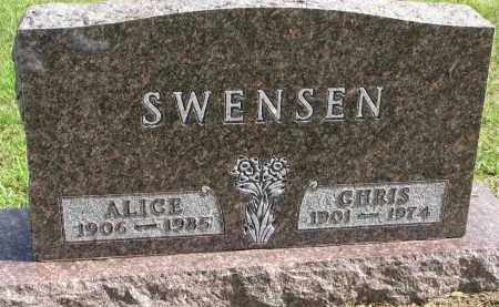 SWENSEN, CHRIS - Clay County, South Dakota | CHRIS SWENSEN - South Dakota Gravestone Photos