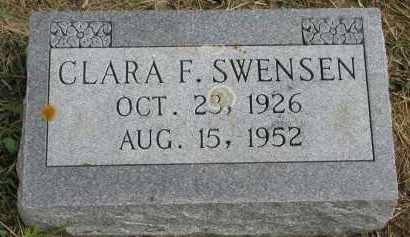 SWENSEN, CLARA F. - Clay County, South Dakota | CLARA F. SWENSEN - South Dakota Gravestone Photos