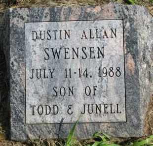 SWENSEN, DUSTIN ALLAN - Clay County, South Dakota | DUSTIN ALLAN SWENSEN - South Dakota Gravestone Photos