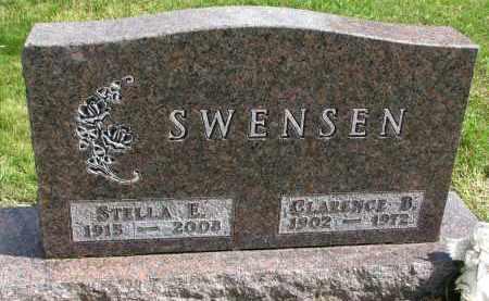 SWENSEN, CLARENCE B. - Clay County, South Dakota | CLARENCE B. SWENSEN - South Dakota Gravestone Photos