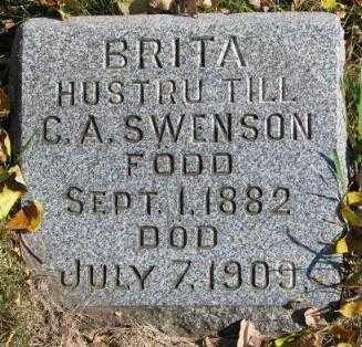 SWENSON, BRITA - Clay County, South Dakota | BRITA SWENSON - South Dakota Gravestone Photos