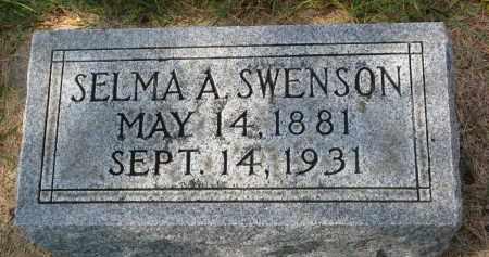 SWENSON, SELMA A. - Clay County, South Dakota | SELMA A. SWENSON - South Dakota Gravestone Photos