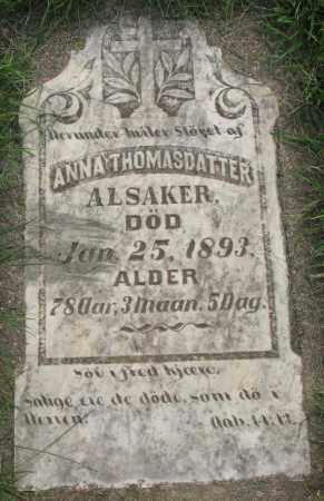 THOMASDATTER, ANNA - Clay County, South Dakota | ANNA THOMASDATTER - South Dakota Gravestone Photos