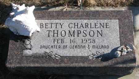 THOMPSON, BETTY CHARLENE - Clay County, South Dakota | BETTY CHARLENE THOMPSON - South Dakota Gravestone Photos