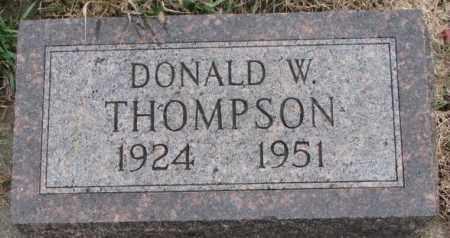 THOMPSON, DONALD W. - Clay County, South Dakota | DONALD W. THOMPSON - South Dakota Gravestone Photos