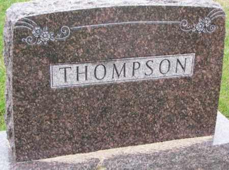 THOMPSON, FAMILY STONE - Clay County, South Dakota   FAMILY STONE THOMPSON - South Dakota Gravestone Photos