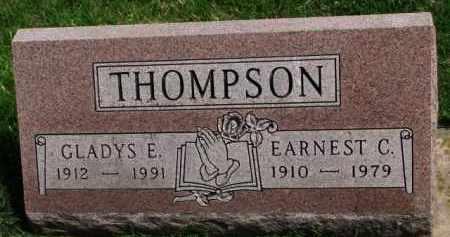 THOMPSON, GLADYS E. - Clay County, South Dakota | GLADYS E. THOMPSON - South Dakota Gravestone Photos