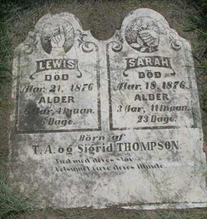 THOMPSON, LEWIS - Clay County, South Dakota | LEWIS THOMPSON - South Dakota Gravestone Photos