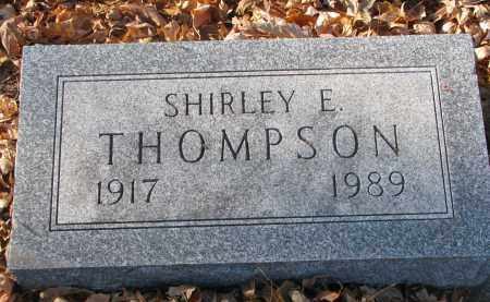 THOMPSON, SHIRLEY E. - Clay County, South Dakota | SHIRLEY E. THOMPSON - South Dakota Gravestone Photos