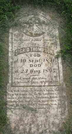 THOMPSON, SIGRID - Clay County, South Dakota | SIGRID THOMPSON - South Dakota Gravestone Photos