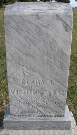 THORESON, CLARA R. - Clay County, South Dakota | CLARA R. THORESON - South Dakota Gravestone Photos