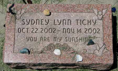 TICHY, SYDNEY LYNN - Clay County, South Dakota | SYDNEY LYNN TICHY - South Dakota Gravestone Photos