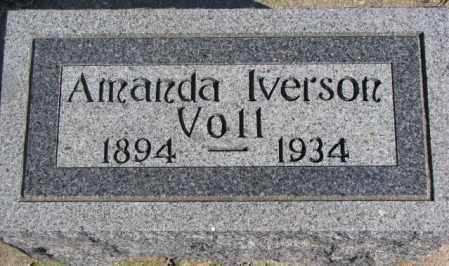 VOLL, AMANDA - Clay County, South Dakota | AMANDA VOLL - South Dakota Gravestone Photos