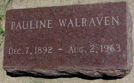 WALRAVEN, PAULINE - Clay County, South Dakota | PAULINE WALRAVEN - South Dakota Gravestone Photos