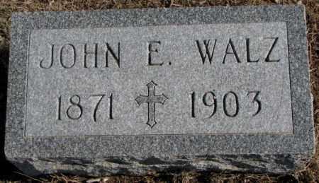 WALZ, JOHN E. - Clay County, South Dakota | JOHN E. WALZ - South Dakota Gravestone Photos