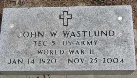 WASTLUND, JOHN W. - Clay County, South Dakota | JOHN W. WASTLUND - South Dakota Gravestone Photos