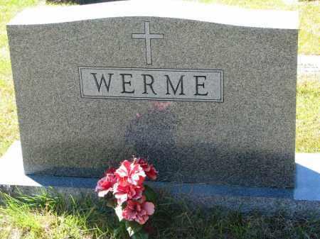 WERME, FAMILY STONE - Clay County, South Dakota | FAMILY STONE WERME - South Dakota Gravestone Photos