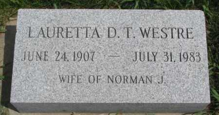 WESTRE, LAURETTA - Clay County, South Dakota   LAURETTA WESTRE - South Dakota Gravestone Photos