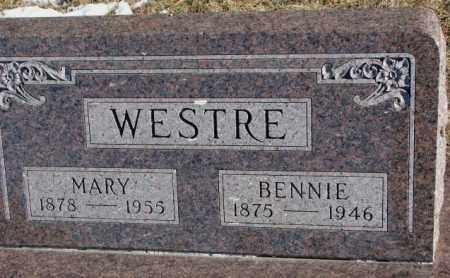 WESTRE, BENNIE - Clay County, South Dakota | BENNIE WESTRE - South Dakota Gravestone Photos