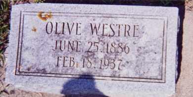 WESTRE, OLIVE - Clay County, South Dakota | OLIVE WESTRE - South Dakota Gravestone Photos