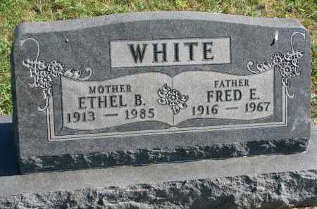 WHITE, FRED ELLIS - Clay County, South Dakota | FRED ELLIS WHITE - South Dakota Gravestone Photos