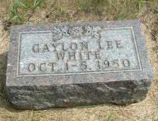 WHITE, GAYLON LEE - Clay County, South Dakota | GAYLON LEE WHITE - South Dakota Gravestone Photos