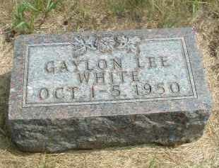 WHITE, GAYLON LEE - Clay County, South Dakota | GAYLON LEE WHITE - South Dakota Gravestone Photos