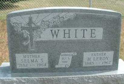 WHITE, HUGH LEROY - Clay County, South Dakota | HUGH LEROY WHITE - South Dakota Gravestone Photos