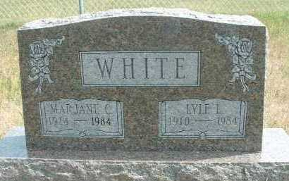 WHITE, MARJANE - Clay County, South Dakota | MARJANE WHITE - South Dakota Gravestone Photos